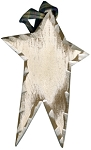 Carved Wood Star (Creamy White)