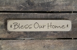 Bless our Home Engraved Wood Block