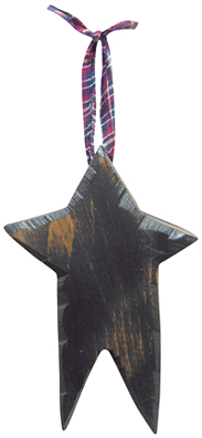 carved wood star black