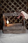 Candle Light Wood Tool Box