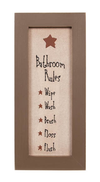 bathroom rules stitchery