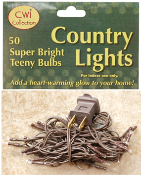 50 ct teeny super bright bulbs country light strand