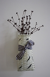 Narrow Wall Hanging Basket (White) w/ Pip Berries
