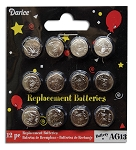 Button Batteries 12 pc pack AG13