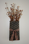 Narrow Wall Basket (Brown) with Pip Berries