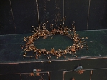 5 Ft. Tan/Brown Pip Berries Garland w/ Stars