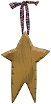 Carved Wood Star (Mustard)