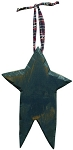 Carved Wood Star (Navy)