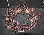 5 Ft. Burgundy Pip Berries Garland with Stars