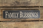 Family Blessings Wood Block