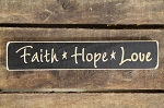 Faith-Hope-Love Engraved Wood Block