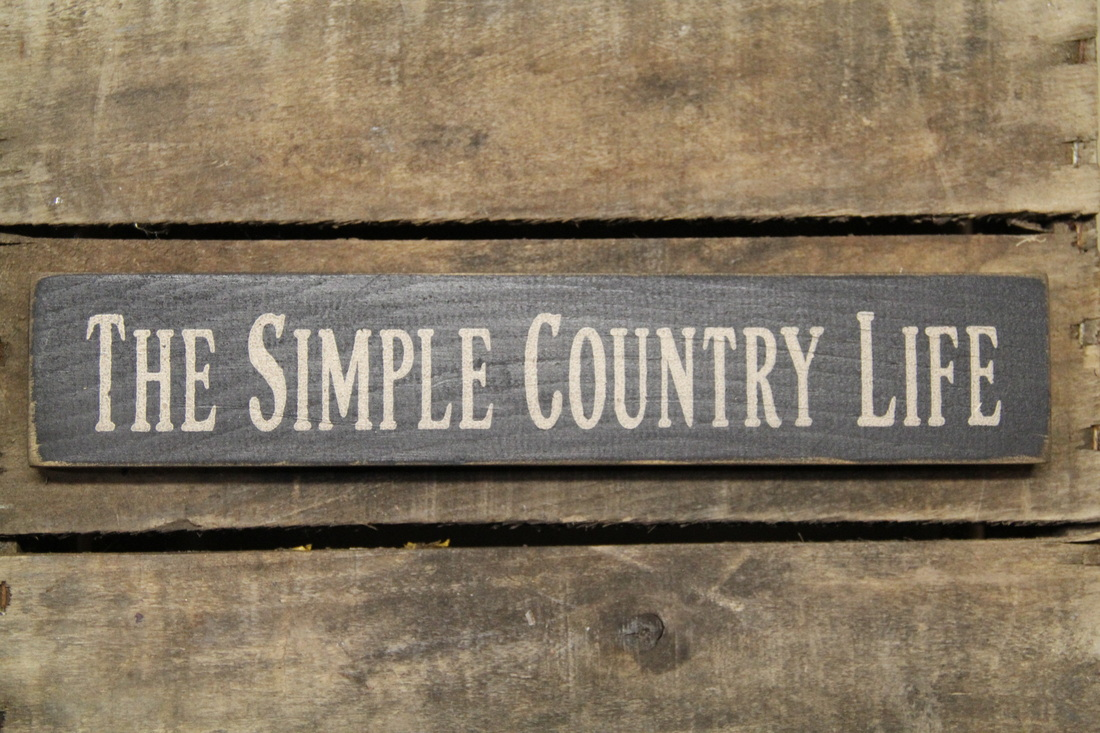 The simple country life wood block for Country living customer service number