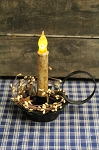 Black Tin Candle Holder w/ 6