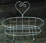 Primitive Wire Soap Dish with Heart