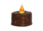 LARGE Burnt Mustard Tealight TIMER with Battery