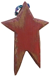 Carved Wood Star (Black)