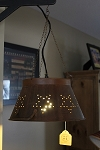 Rusty Tin Colander Lamp