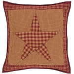 Ninepatch Star Quilted Pillow Cover 16