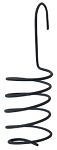 Black Wire Spiral Taper Candle Hanger