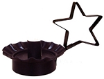 Tin Taper Candle Holder with Star Handle (Black)