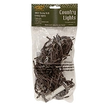 100 Count Teeny Bulbs Light Strand - Clear Bulbs - Brown Cord