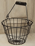 Wire Egg Basket - Black