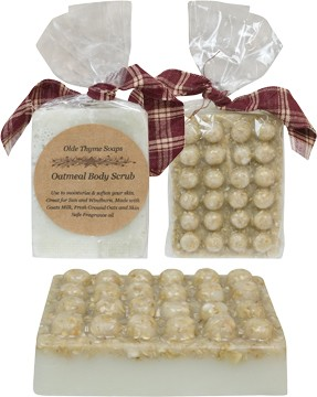 Oatmeal Body Scrub Soap Bar 4oz.